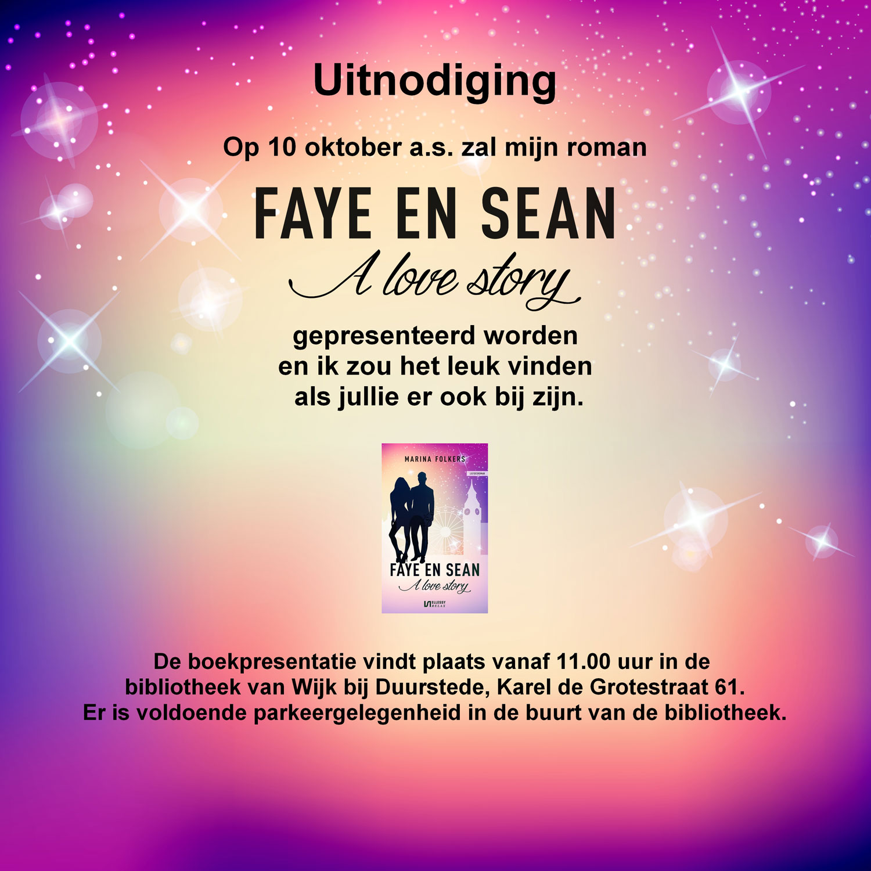 Boekpresentatie Faye en Sean, a love story